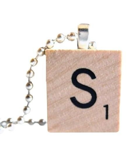 �Initial ABCDEFGHIJKLMNOPQRSTUVWXYZ Wood Scrabble Necklace Charm Keychain Gift�