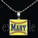 Personalized Custom Name SOFTBALL Scrabble Tile Necklace Charm Keychain Gift