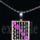 CHEER CHEER Cheer Cheerleader Personalized Scrabble Necklace Pendant Charm or Key-chain