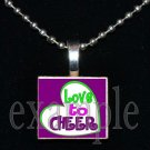 LOVE TO CHEER Cheerleader Personalized Scrabble Necklace Pendant Charm or Key-chain