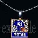 Personalized Custom Name Team FOOTBALL HELMET Scrabble Tile Necklace Charm Keychain