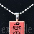 Keep Calm and Call Mom Scrabble Tile Pendant Necklace Charm Key-chain