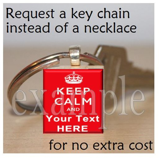 "Keep Calm and ___ On ""U Pick ANY"" Scrabble Tile Key-chain"