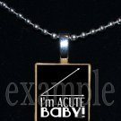 IM ACUTE BABY Scrabble Necklace Pendant Charm Key-chain Gift