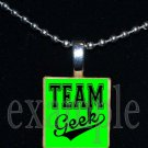 TEAM GEEK Scrabble Necklace Pendant Charm Key-chain Gift
