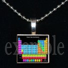 TABLE OF ELEMENTS Science Scrabble Necklace Pendant Charm Key-chain Gift