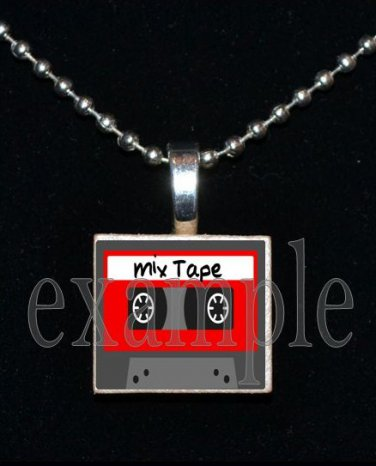 MIX TAPE Nerd Geek Smart Math Science Scrabble Necklace Pendant Charm Key-chain Gift
