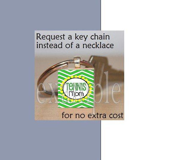 TENNIS Scrabble Necklace Pendant Key-chain