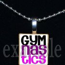 Gymnastics GYM Team Personalized Scrabble Necklace Pendant Charm Key-chain Gift