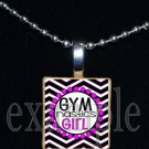 Gymnastics GYM Girl Scrabble Necklace Pendant Charm Key-chain Gift