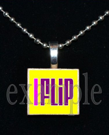 I FLIP Gymnastics GYM Team Scrabble Necklace Pendant Charm Key-chain Gift