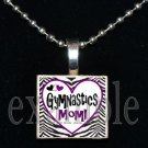 Gymnastics Mom GYM Team Scrabble Necklace Pendant Charm Key-chain Gift