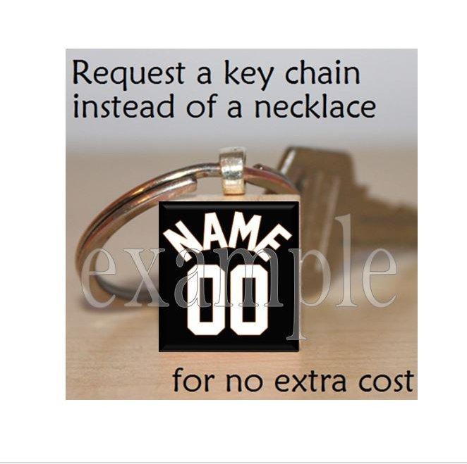 BASKETBALL JERSEY TEAM Scrabble Key-chain