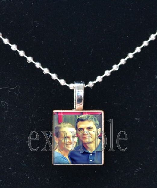 LOVE Sweetheart xOx Personalized CUSTOM PHOTO Scrabble Tile Pendant Necklace Charm Key-chain