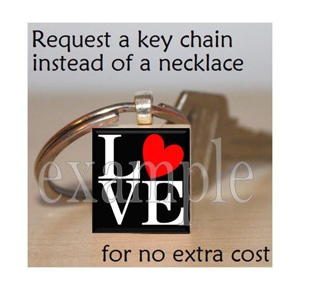 LOVE Sweetheart xOx Personalized Scrabble Tile Key-chain