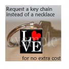 LOVE Sweetheart xOx Personalized Scrabble Tile Key-chain
