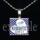 ROCKY BAYOU KNIGHTS School Team Mascot Pendant Choices