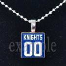 ROCKY BAYOU KNIGHTS Personalized Jersey ANY SPORT School Team Mascot Pendant Choices