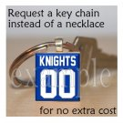 ROCKY BAYOU KNIGHTS Personalized Jersey ANY SPORT School Team Mascot Key-Chain