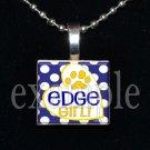 LULA J EDGE GIRL TIGERS School Team Mascot Pendant Necklace Charm or Keychain