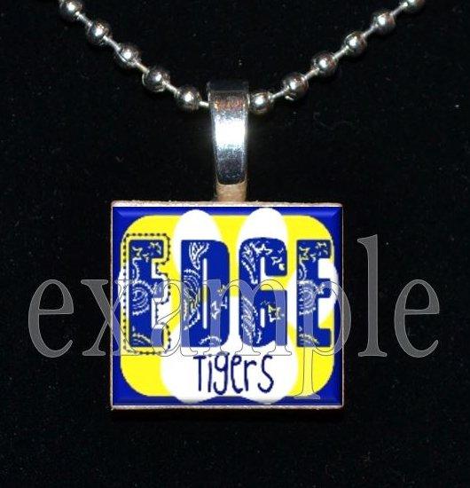 LULA J EDGE TIGERS School Team Mascot Pendant Necklace Charm or Keychain
