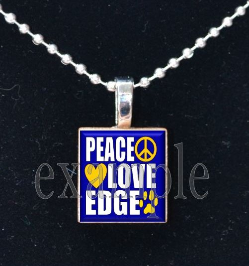 LULA J EDGE PEACE LOVE TIGERS School Team Mascot Pendant Necklace Charm or Keychain