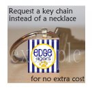 LULA J EDGE TIGERS School Team Mascot Pendant Keychain