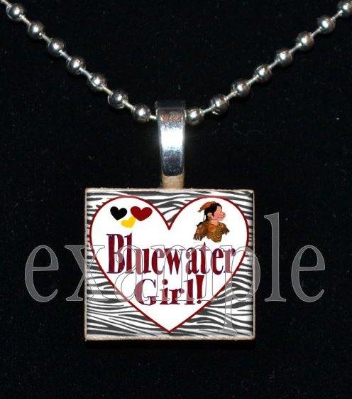BLUEWATER SEMINOLES GIRL Elementary School Team Mascot Pendant Necklace Charm or Keychain