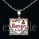 BLUEWATER SEMINOLES GIRL Elementary School Team Mascot Pendant Necklace Charm or Keychain
