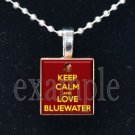 KEEP CALM BLUEWATER SEMINOLES Elementary School Team Mascot Pendant Necklace Charm or Keychain