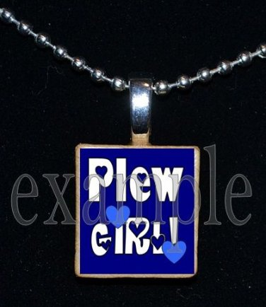 JAMES E PLEW PANTHERS GIRL Elementary School Team Mascot Pendant Necklace Charm or Keychain