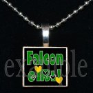 ADDIE R LEWIS GIRL FALCONS School Team Mascot Pendant Necklace Charm or Keychain