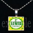ADDIE R LEWIS FALCONS CHEERLEADER School Team Mascot Pendant Necklace Charm or Keychain