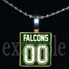 ADDIE R LEWIS FALCONS PERSONALIZED FOOTBALL JERSEY School Team Mascot Necklace or Keychain