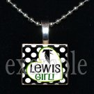 LEWIS FALCONS GIRL School Team Mascot Pendant Necklace Charm or Keychain