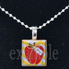 School Teacher APPLE Scrabble Necklace Pendant Charm or Key-chain Great Gift
