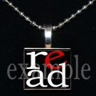 School Teacher READ Scrabble Necklace Pendant Charm or Key-chain Great Gift