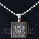 School Teacher Scrabble Necklace Pendant Charm or Key-chain Great Gift