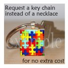 AUTISM Awareness Ribbon Scrabble Tile Key-chain