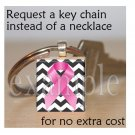 BREAST CANCER Awareness Ribbon Scrabble Tile Key-chain