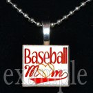 BASEBALL MOM Scrabble Tile Necklace Pendant Charm OR Key-chain
