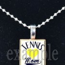 TENNIS MOM ScrabbleTile Necklace Pendant Charm or Key-chain Gift
