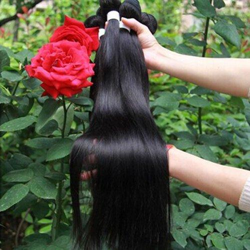 Grade 6A queen hair Brazilian virgin hair straight 3 Pack Bundle unprocessed hair extension  18 inch