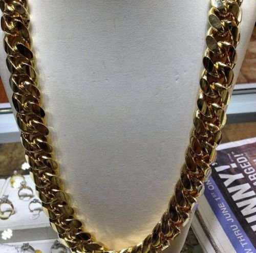 Gold Cuban Link Chain 30inch 13mm