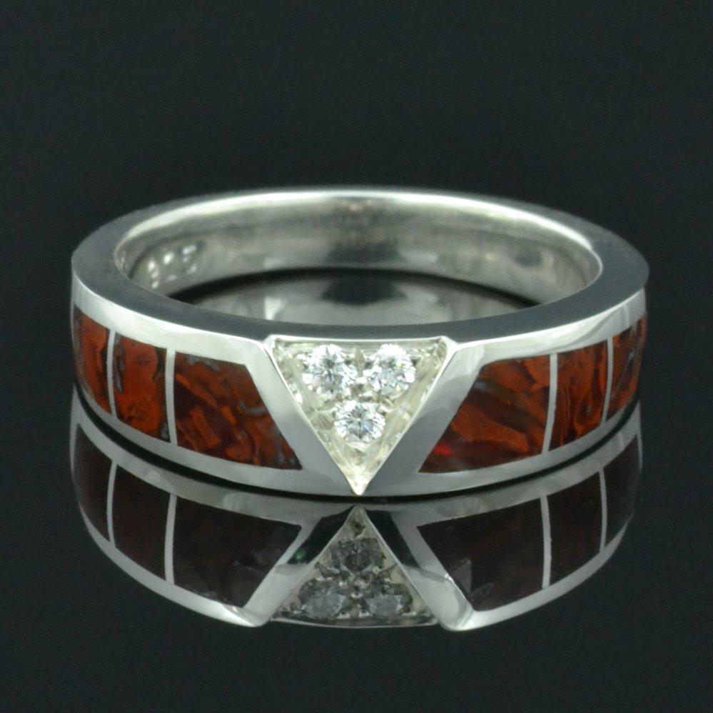 Dinosaur Bone Alternative Wedding Ring