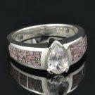 Pink Dinosaur Bone Engagement or Wedding Ring