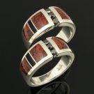 Dinosaur Bone Wedding Ring Set - His & Hers