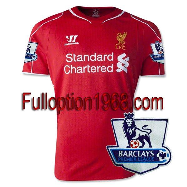 NEW 14-15 Liverpool Home Premier League Patch Soccer Football Shirt Jersey