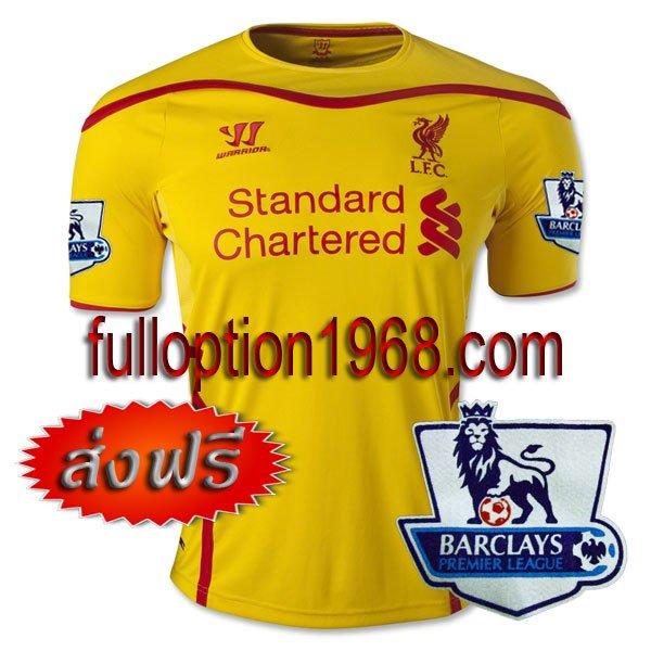 NEW 14-15 Liverpool Away Premier League Patch Soccer Football Shirt Jersey