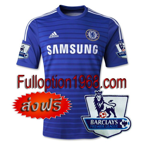 NEW 14-15 Chelsea Home Premier League Patch Soccer Football Shirt Jersey